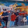 Peinture murale de San Francisco Visite en francais de la prison d'Alcatraz lors de la visite privée de San Francisco avec www.frenchescapade.com