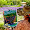 Painting Workshop in Provence organized by www.frenchescapade.com