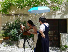 Plein-air painting workshop in Provence run by www.frenchescapade.com