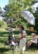 Plein-air painting and sketching workshops in Provence run by www.frenchescapade.com