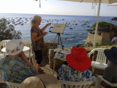 Rae Andrews Watercolor Painting Workshop in Spain with www.frenchescapade.com
