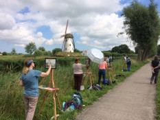 Painting Workshop in Belgium with French Escapade